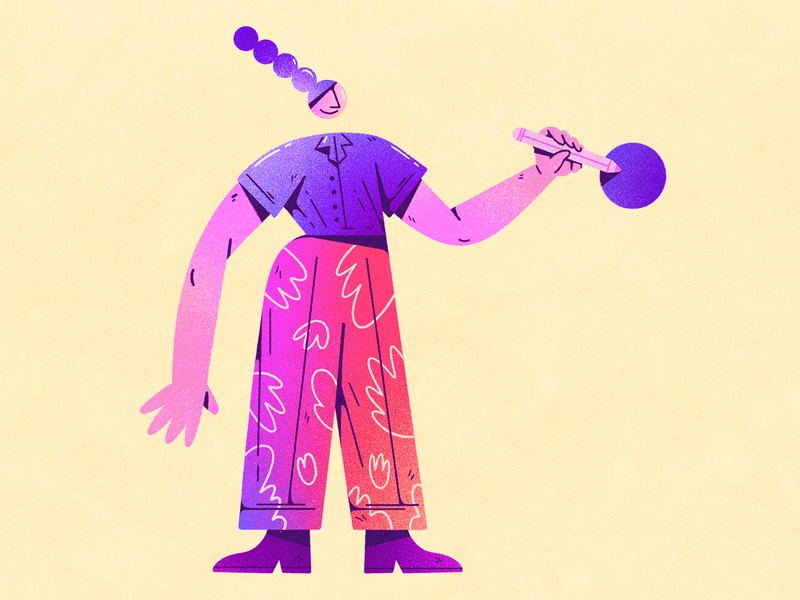 Illustration for Foam III dribbble design character design shapes color character illustration