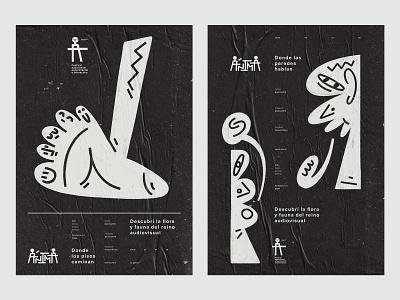 ÁNIMA II mockup poster design poster identity design event festival logo branding shapes composition illustration