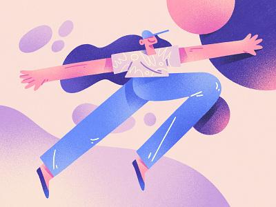 Illustration for Fiverr IV composition dribbble design character design color shapes character illustration
