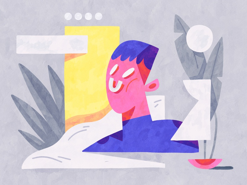Figurative shapes flat experimentation bright colors abstract composition dribbble design color shapes illustration