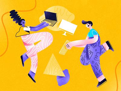 Illustration for Zestful composition dribbble design color character shapes illustration
