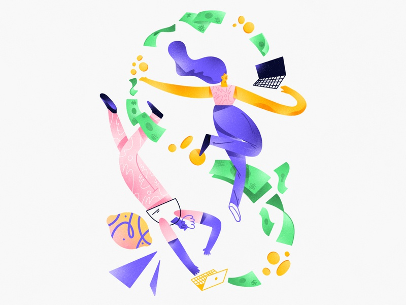 Illustration for Zestful II composition dribbble design character shapes illustration