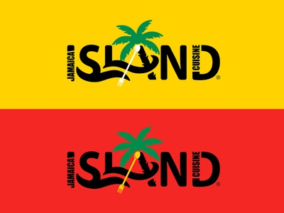Jamaica Island Cuisine - Logo Design vector logo typography illustration thepoddotme graphic design design branding