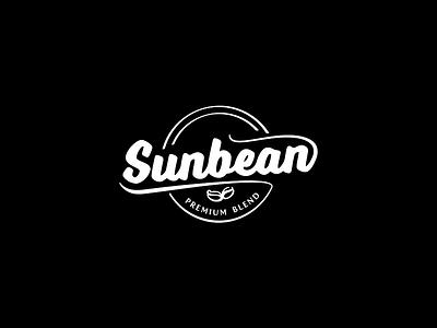 Sunbean logo blackwhite bean logo break coffee