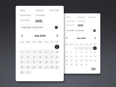Date picker Freebies freebies sketch clean simple blackwhite datepicker calendar