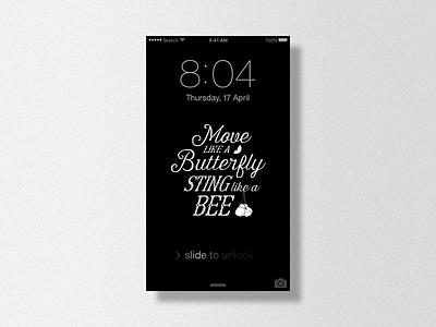 Muhammad ali iphone wallpaper freebies typography freebies wallpaper iphone ali muhammad blackwhite