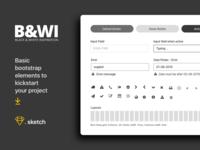B&W UI elements - Freebies