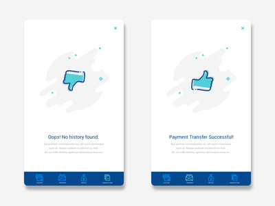 Banking App message successful history transfer app banking payment