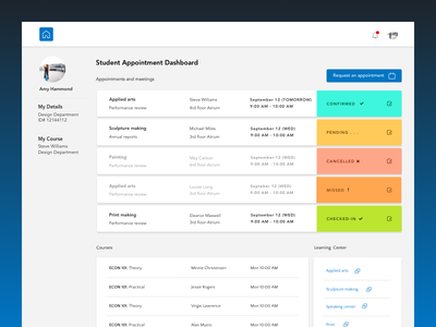Student Dashboard ui dashboard student clean simple