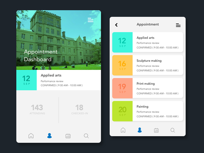 Student Dashboard App simple clean student dashboard ui