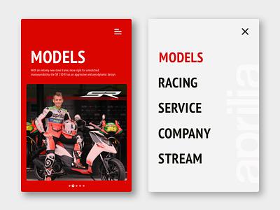 Aprilia app conpect web ux ui typography logo layout aprilia flat ecommerce design branding app