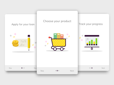 Banking Onboarding banking onboarding design ecommerce flat layout typography ui clean