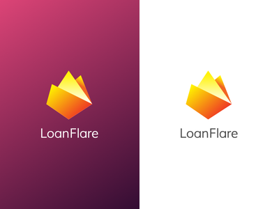 Loanflare Logo money banking broker mortgage clean logo branding loanflare