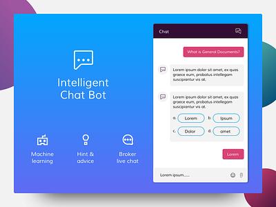 Chat Bot chatbot marketing ui simple mortgage broker banking dailyui