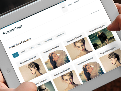 Portfolio Template on iPad ipad responsive portfolio template clean minimal design envato