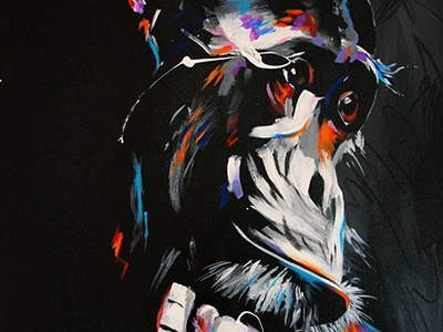 Chimp animal chimp painting acrylic