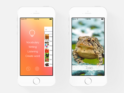 iLearn: English - Menu logo blog web design flat software development app ilearn english