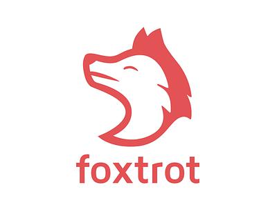 Foxtrot team logo development fox flat design logo