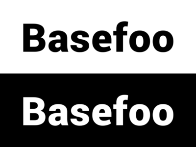 Basefoo logo logo delivery software planning business development design company