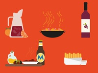 Spanish Food Illustrations