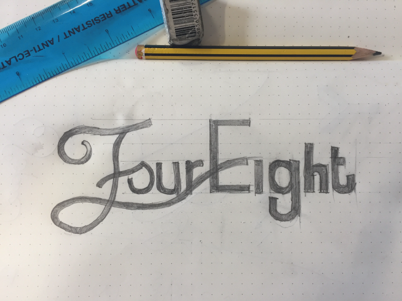 48 Sketch pencil sketch work in progress typography hand lettering type