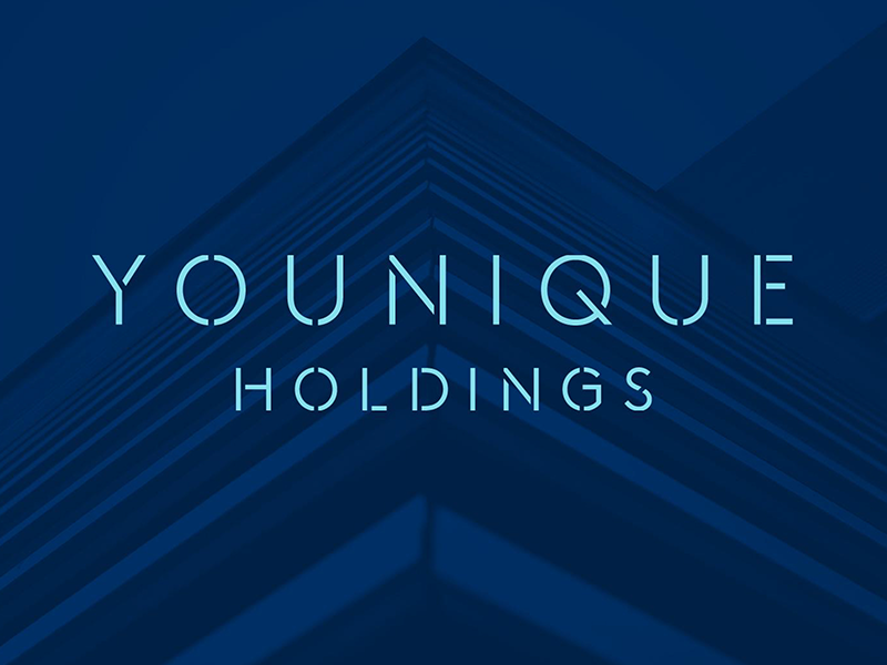 Younique Holdings Logo blue property brand logo