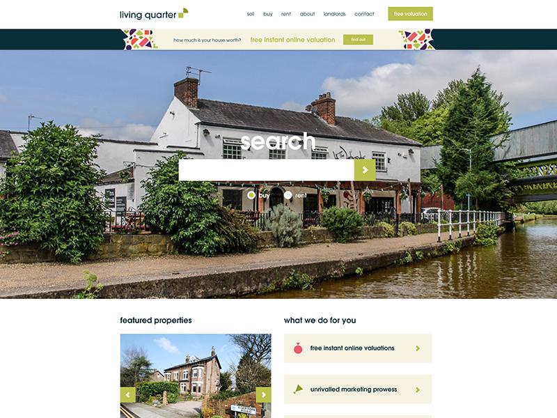 Estate Agent Website and Brand Refresh local property branding brand web design web
