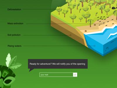 Landing page : Serious Game Design