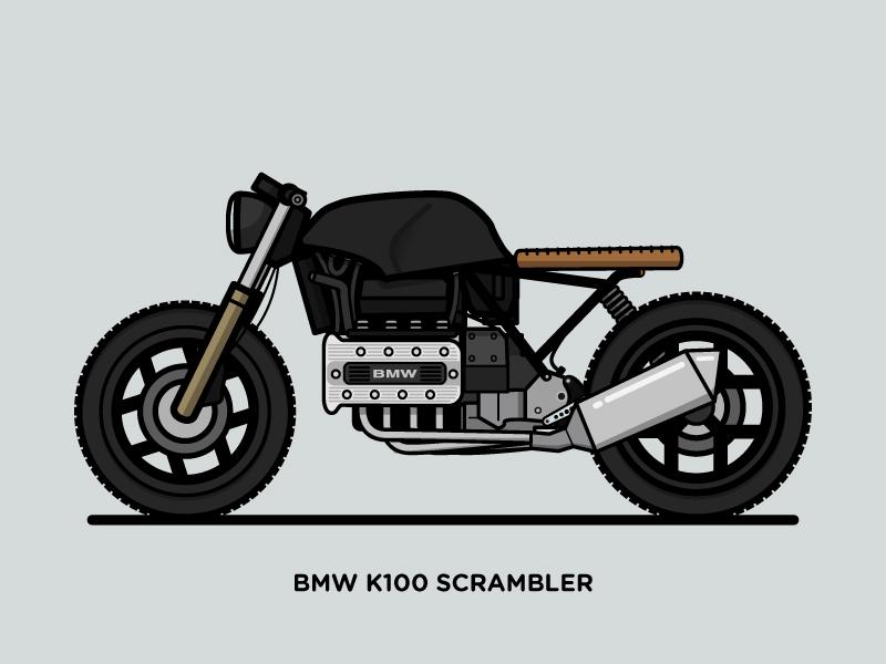 Beliebt BMW K100 Scrambler by Messer Piter - Dribbble KI56
