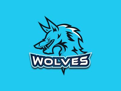 fierce wolf logo dire wolf esports logo by lobotz logos