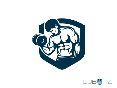 Strong BodyBuilding Logo Fitness Logo