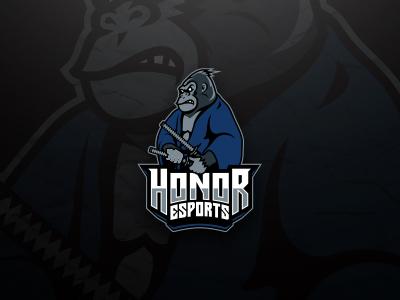 Samurai Gorilla Esports Logo Client Work By Lobotz Logos Dribbble