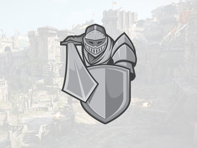 Medieval Knight eSports Logo   Knight Mascot Logo knight gaming sports esports mascot logo premade readymade armour soldier army