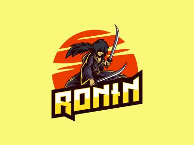 Ronin Samurai Esports Mascot Logo By Lobotz Logos Dribbble Dribbble