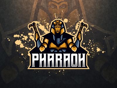 Majestic Pharaoh Mascot Logo   Pharaoh eSports Logo sale team sports god logo gaming esports mascot egyptian pharaoh