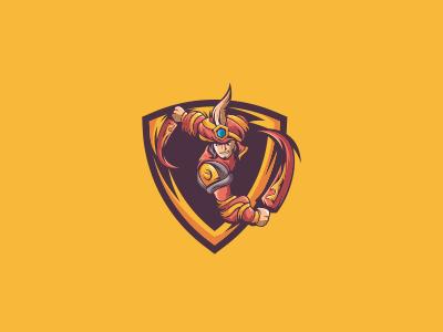 Warrior Prince Mascot Logo   Warrior Prince eSports Logo warrior esports gaming logo mascot prince sale sports team