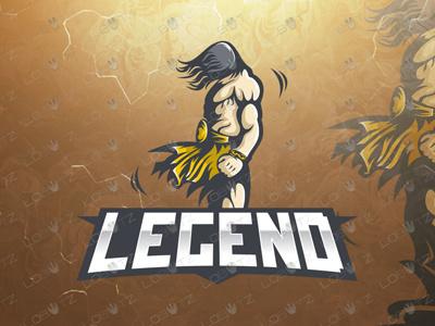Warrior Mascot Logo   Warrior eSports Logo warrior esports gaming logo mascot tarzan sale sports team
