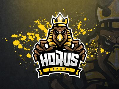 Majestic Horus Logo   Horus eSports Logo   Horus Mascot Logo gym horus logo esports logo mascot logo egypt mascot esports falcon egyptian mytical god horus
