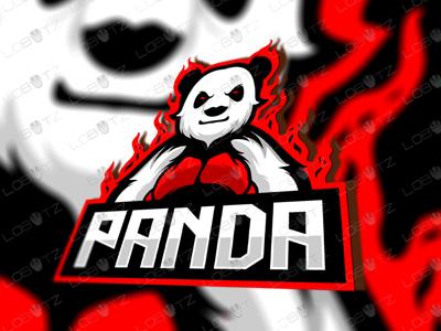 Awesome Boxer Panda eSports Logo Panda Mascot Logo fight boxing boxer gaming esports logo mascot bear panda sports