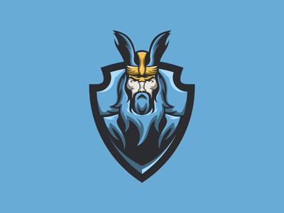 Viking Mascot Logo   Viking eSports Logo For Sale viking sports esports mascot logo gaming vikings strong