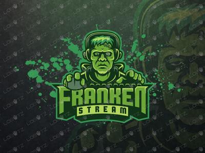 Frankenstein Gamer eSports Logo   Gamer Mascot Logo readymade keyboard mouse channel twitch streamers streamer illustration design premade sports gaming mascot esports logo frankenstein
