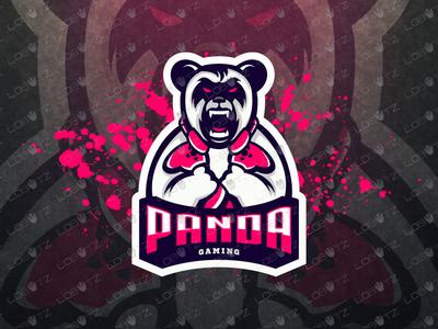Gamer Panda Mascot Logo Gamer Panda eSports Logo For Sale readymade premade team team logo esport twitch gaming sale esportslogo mascot logos mascot logo gamer esports panda logo mascot panda