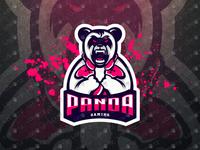 Gamer Panda Mascot Logo Gamer Panda eSports Logo For Sale