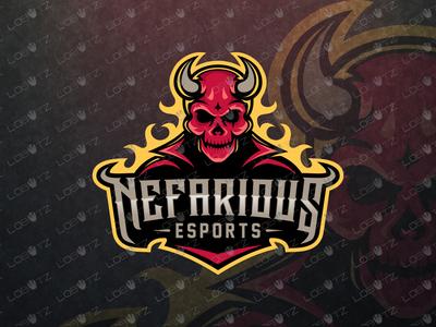 Devil eSports Logo For Sale Devil Mascot Logo premade logos logo fire horns sports streamer gaming esport mascot mascot logos esports logo mascot logo esports skulls nefarious skull devil