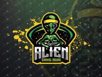 Gamer Alien eSports Logo | Gamer Alien Mascot Logo