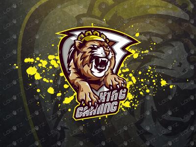 Breathtaking King Lion Mascot Logo esports logos esports logo cat gamers gaming esport esports mascot design logos mascot logos mascot logo mascot shield brave lion crown kind