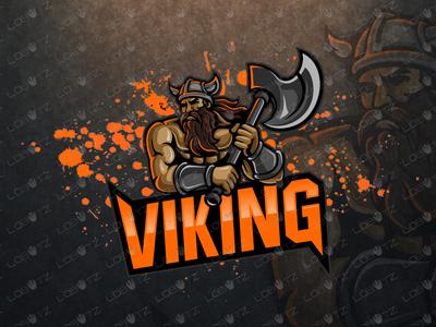 Premade Viking Mascot Logo   Viking eSports Logo For Sale stronger vikings sale premade strong esportslogo esports logos mascot logos mascot logo mascot esports viking