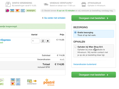 Magento cart delivery methods selector