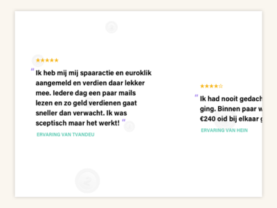 Review component rating horizontal scroll responsive component review