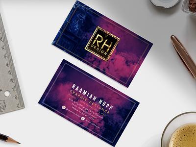 RH Design Business Cards logo branding art graphic design design